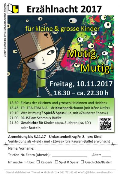 Veranstaltungen: Erzählnacht 2017 \